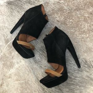 Jeffrey Campbell suede stiletto booties